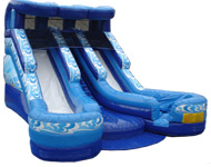 Double Splash Water Slide w/ 2 pools